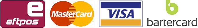 Mastercard VISA Bartercard Eftpos